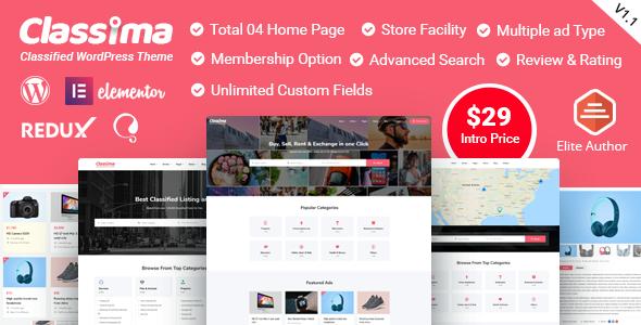 Wordpress Directory Template Classima – Classified Ads WordPress Theme
