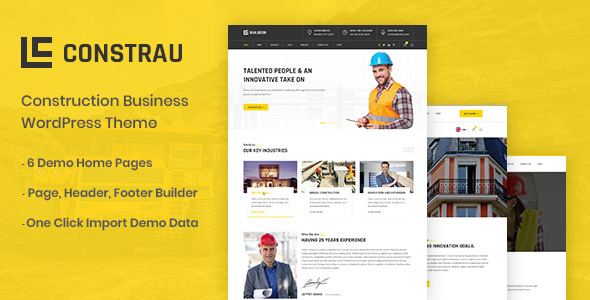 Wordpress Immobilien Template Constrau - Construction Business WordPress Theme