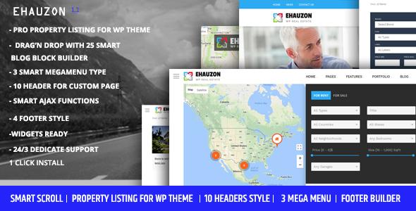 Wordpress Immobilien Template Ehauzon - Property Listing for WordPress Theme