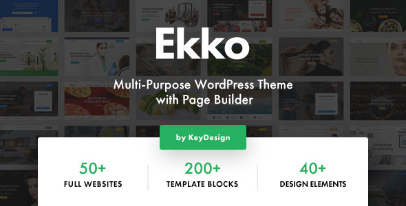 Wordpress Immobilien Template Ekko - Multi-Purpose WordPress Theme with Page Builder