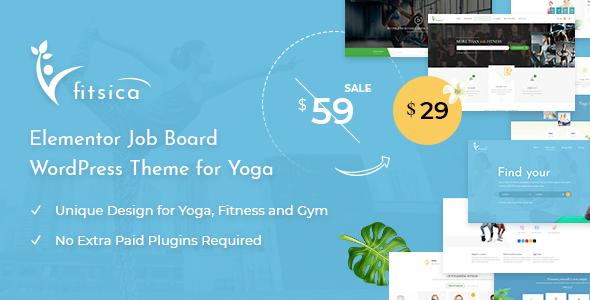 Wordpress Directory Template Fitsica - Yoga Jobboard WordPress Theme