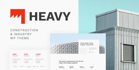 Wordpress Immobilien Template Heavy - Industrial WordPress Theme
