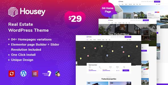 Wordpress Immobilien Template Housey - Real Estate WordPress Theme