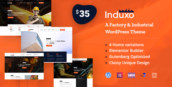 Wordpress Immobilien Template Induxo - Factory & Industrial WordPress Theme