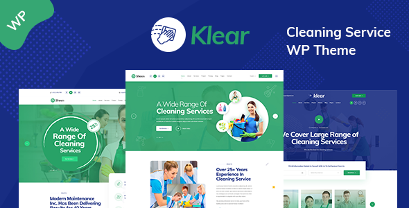 Wordpress Immobilien Template Klear - Cleaning Service Company WordPress Theme + RTL