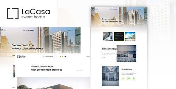 Wordpress Immobilien Template Lacasa – Interior & Exterior Decoration WordPress Theme