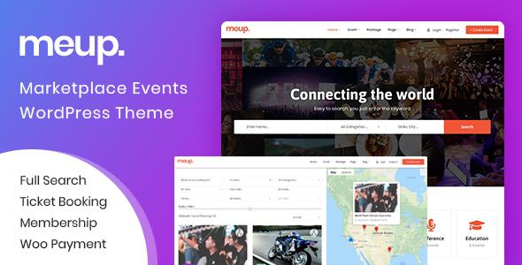 Wordpress Directory Template Meup - Marketplace Events WordPress Theme