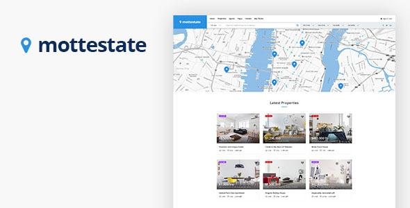 Wordpress Immobilien Template Mottestate - Real Estate WordPress Theme