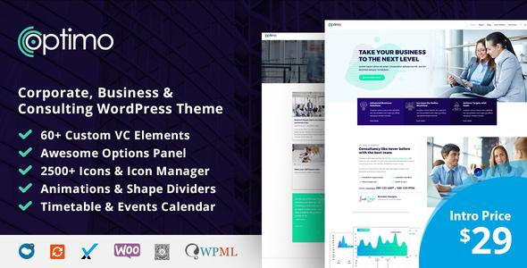 Wordpress Immobilien Template Optimo - Responsive Multi-Purpose WordPress Theme