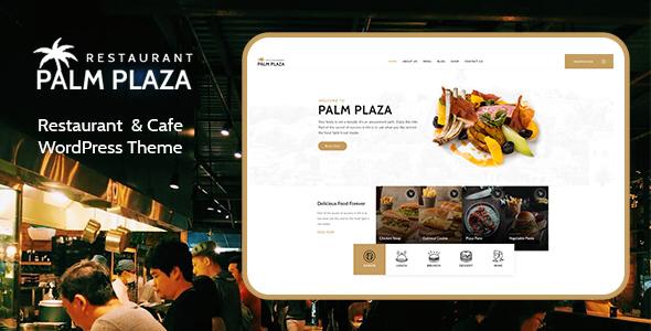 Wordpress Entertainment Template Palmplaza - Restaurant & Cafe WordPress Theme