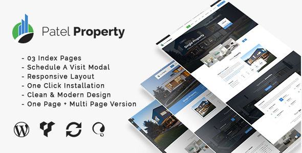 Wordpress Immobilien Template PatelProperty - Single Property Real Estate WordPress Theme