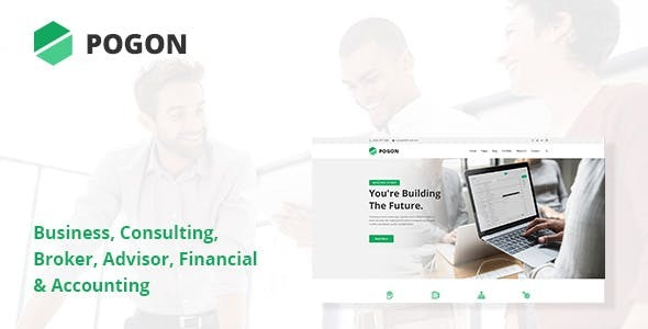 Wordpress Immobilien Template Pogon - Business and Finance Corporate WordPress Theme