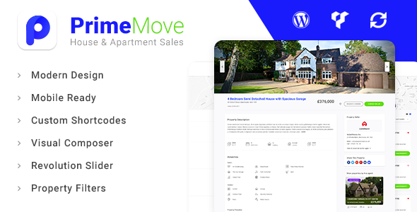 Wordpress Immobilien Template Primemove - Real Estate Property WordPress Theme