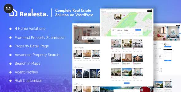 Wordpress Immobilien Template Realesta - Property Sales & Rental WordPress Theme