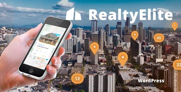 Wordpress Immobilien Template RealtyElite - Real Estate & Property Sales WordPress Theme