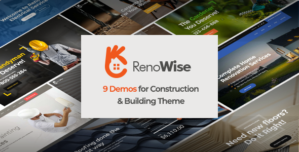 Wordpress Immobilien Template RenoWise - Construction & Building Theme