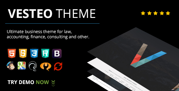 Wordpress Corporate Template Vesteo Business Multi-Purpose Responsive Theme