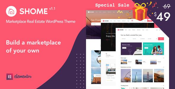 Wordpress Immobilien Template SHome | Marketplace Real Estate WordPress Theme