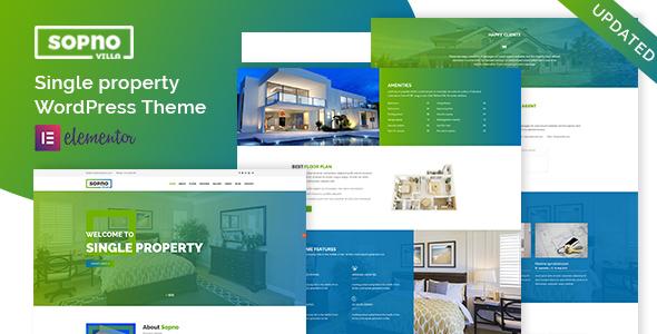 Wordpress Immobilien Template Sopnovilla – Single Property WordPress Theme