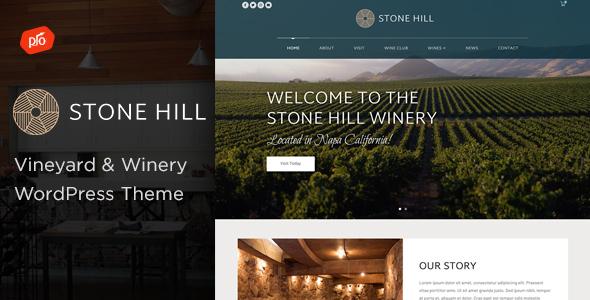 Wordpress Entertainment Template Stone Hill - Vineyard and Winery Theme