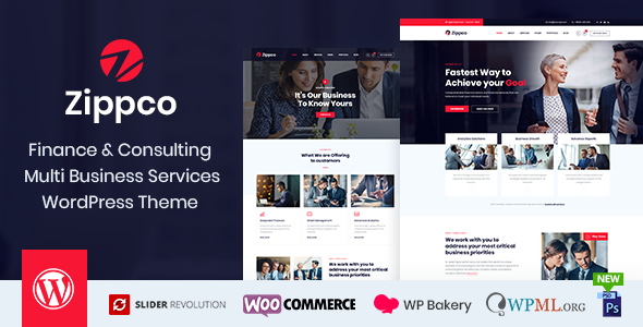 Wordpress Immobilien Template Zippco - Business and Finance Consulting WordPress Theme