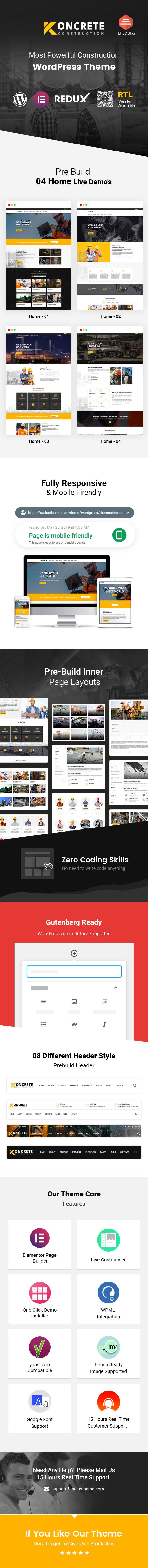 Bauunternehmen WordPress Theme