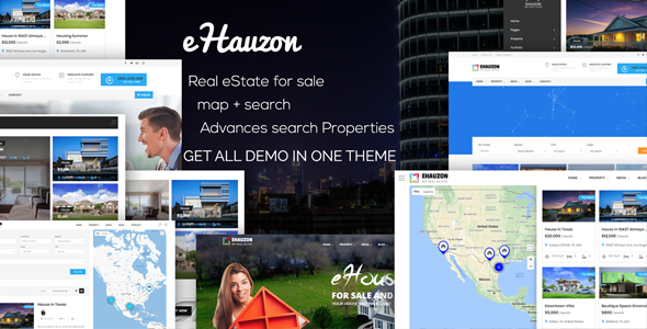 Ehauzon - Property Listing für WordPress Theme - 1