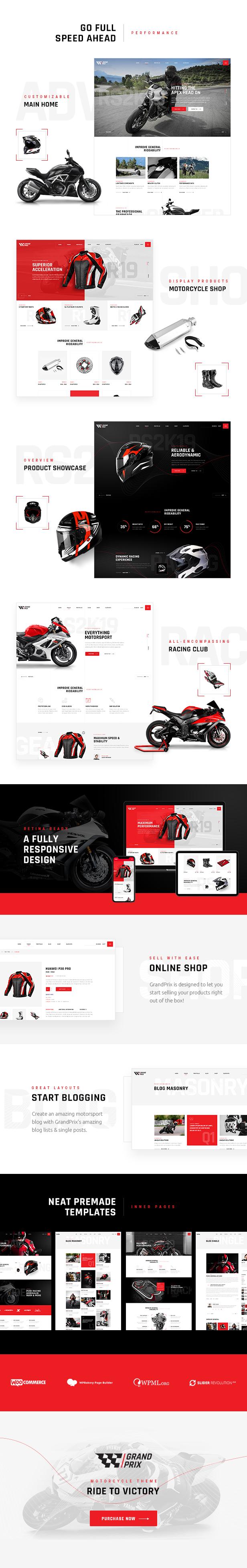 GrandPrix - Motorrad WordPress Theme - 1