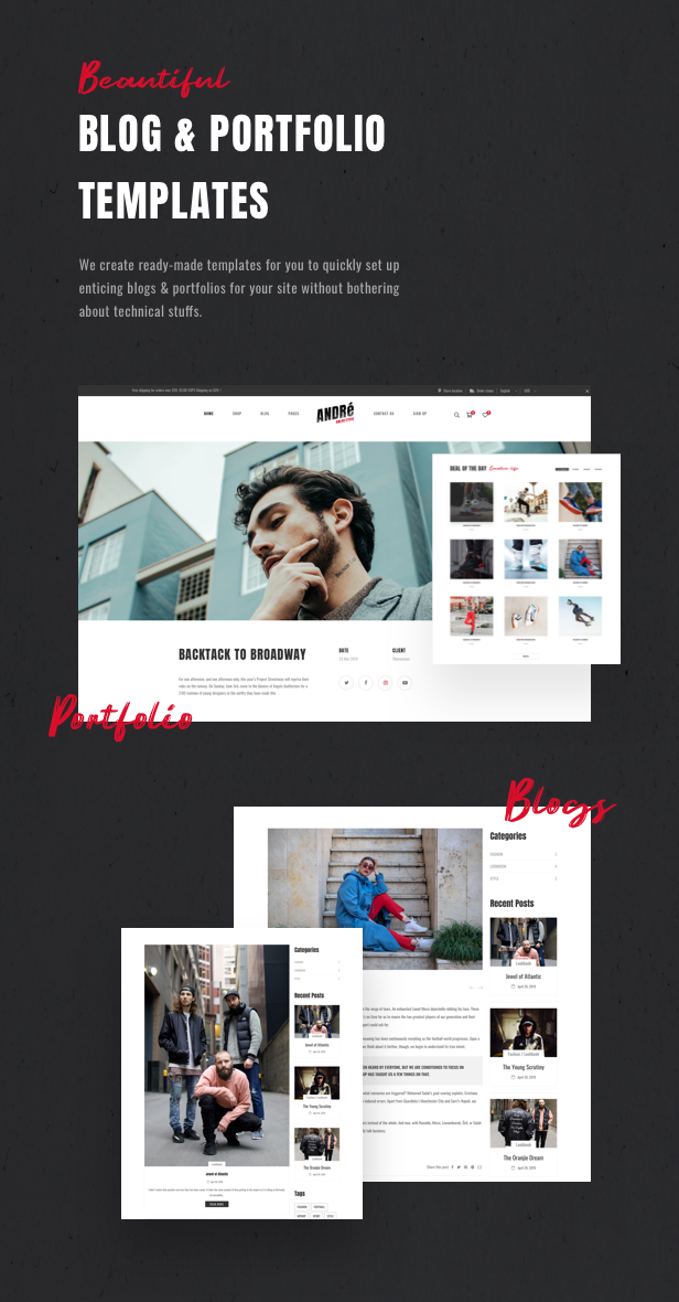 Andre - Street Style Sport & Fitness WooCommerce Theme - 14