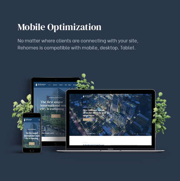 Rehomes - Immobiliengruppe WordPress Theme