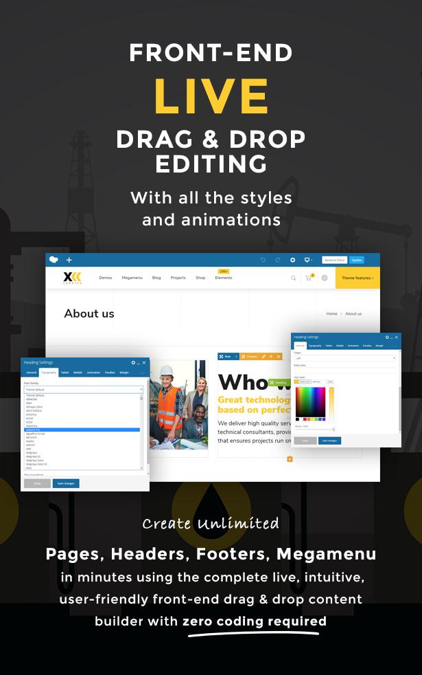 Samatex - Industrielles WordPress Theme + Woocommerce - 5