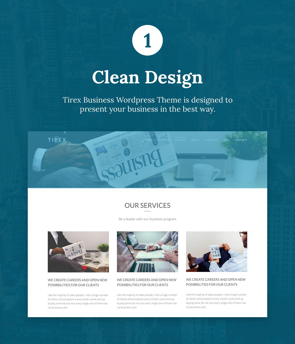 Tirex Business - Agentur & Corporate WordPress Theme - 2