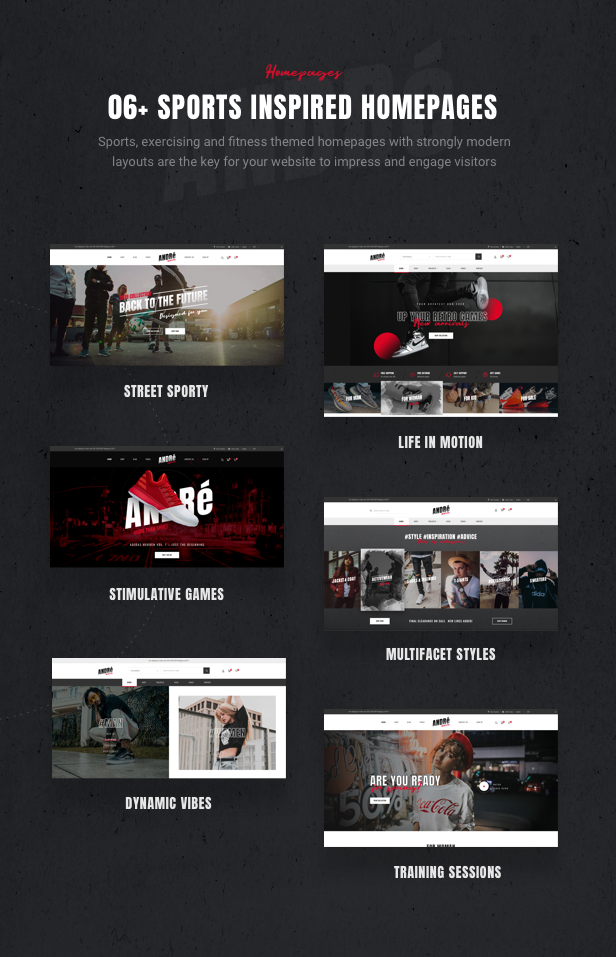 Andre - Street Style Sport & Fitness WooCommerce Theme - 6