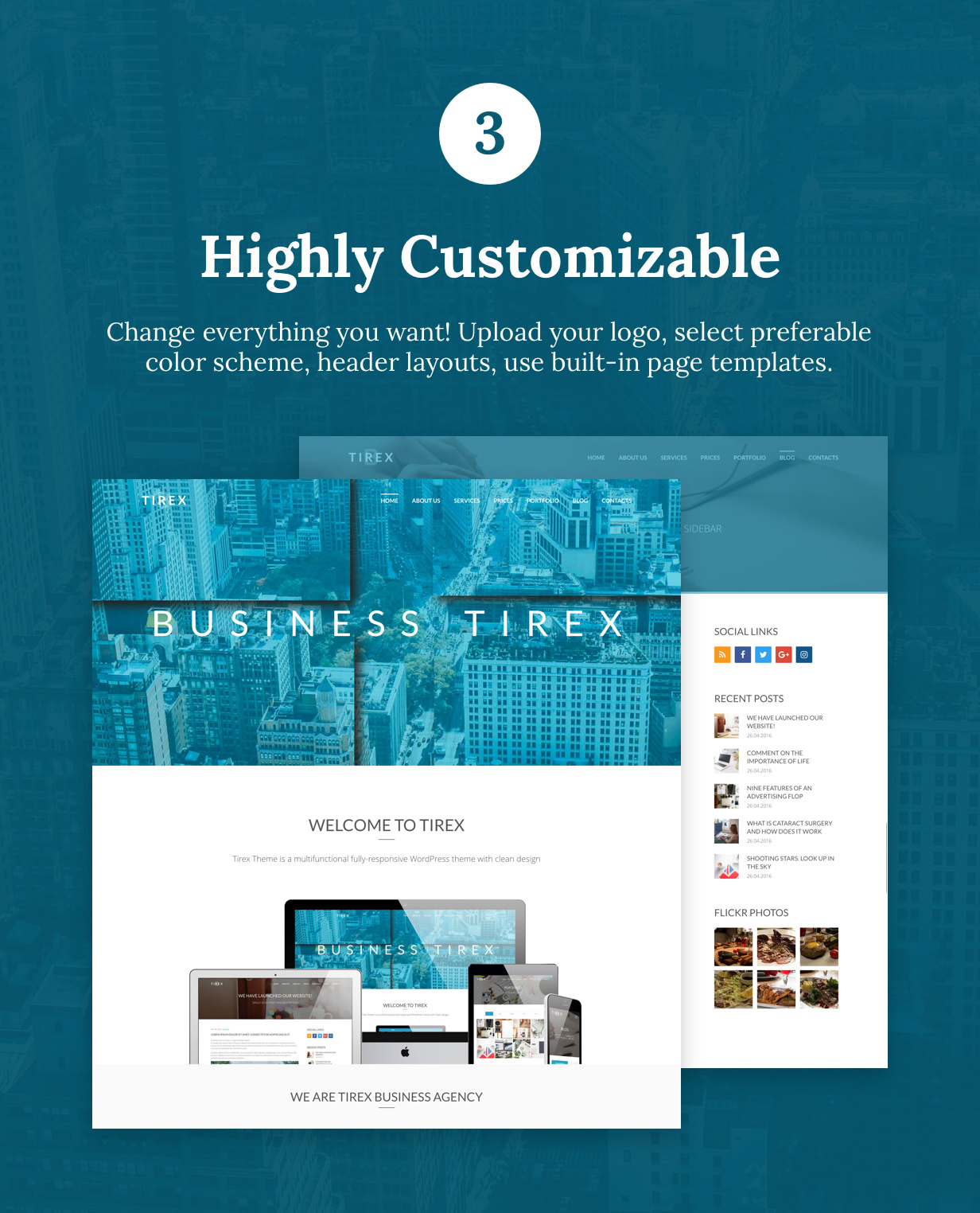 Tirex Business - Agentur & Corporate WordPress Theme - 4