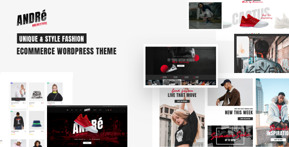 Wordpress Shop Template Andre - Street Style Sports & Gym WooCommerce Theme
