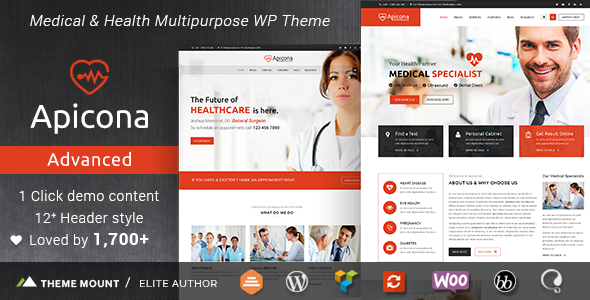 Wordpress Immobilien Template Apicona - Health & Medical WordPress Theme
