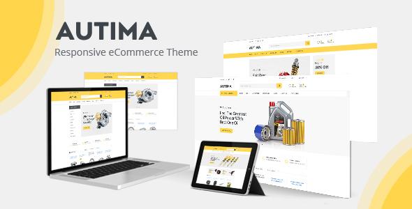Wordpress Shop Template Autima - Car Accessories Theme for WooCommerce WordPress