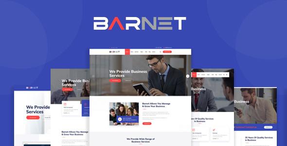 Wordpress Immobilien Template Barnet- Business Consulting WordPress Theme
