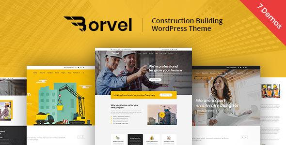Wordpress Immobilien Template Borvel - Construction Building Company WordPress Theme