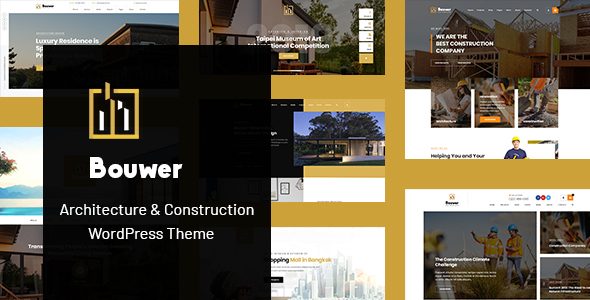 Wordpress Immobilien Template Bouwer - Architecture & Construction WordPress Theme