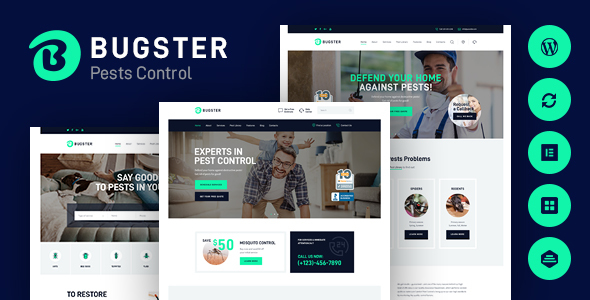 Wordpress Immobilien Template Bugster | Bugs & Pest Control WordPress Theme for Home Services