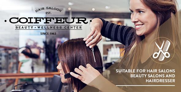 Wordpress Immobilien Template Coiffeur - Hair Salon WordPress Theme