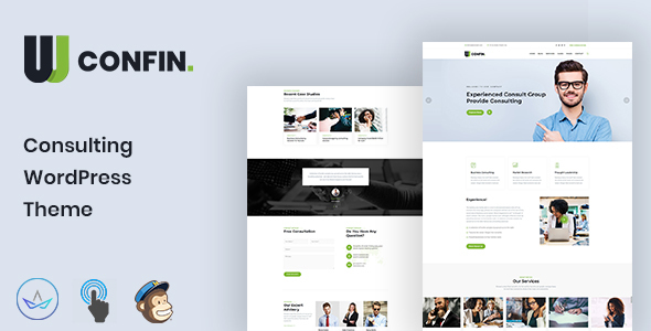 Wordpress Immobilien Template Confin - Consulting Business WordPress Theme