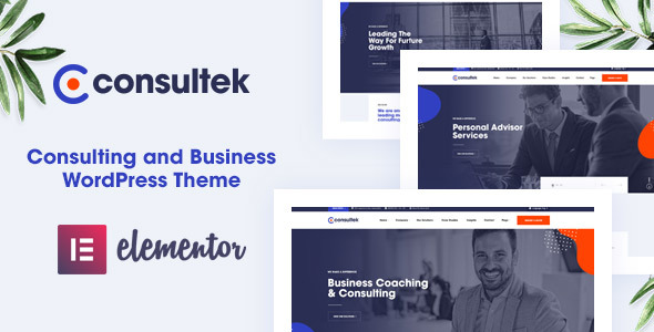 Wordpress Immobilien Template Consultek - Consulting Business WordPress Theme