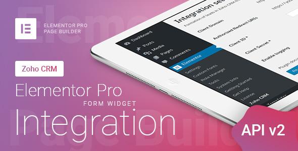 Wordpress Formular Plugin Elementor Pro Form Widget - Zoho CRM - Integration