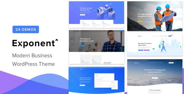 Wordpress Immobilien Template Exponent - Modern Multi-Purpose Business WordPress theme