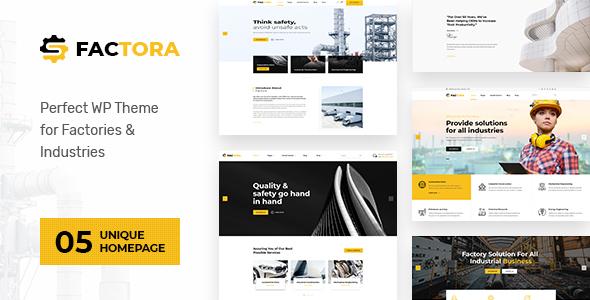 Wordpress Immobilien Template Factora - Factory, Industry Business WordPress Theme