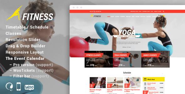 Wordpress Immobilien Template Gym - Fitness WordPress