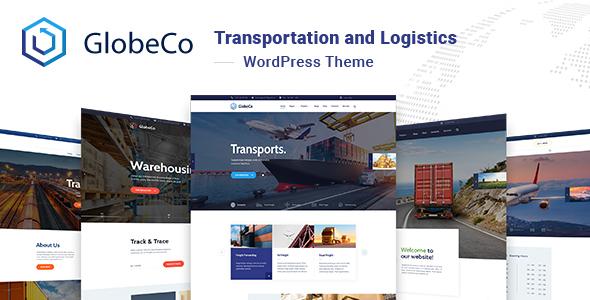Wordpress Immobilien Template GlobeCo - Transportation & Logistics WordPress Theme