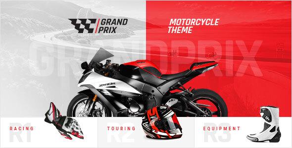 Wordpress Shop Template GrandPrix - Motorcycle WordPress Theme